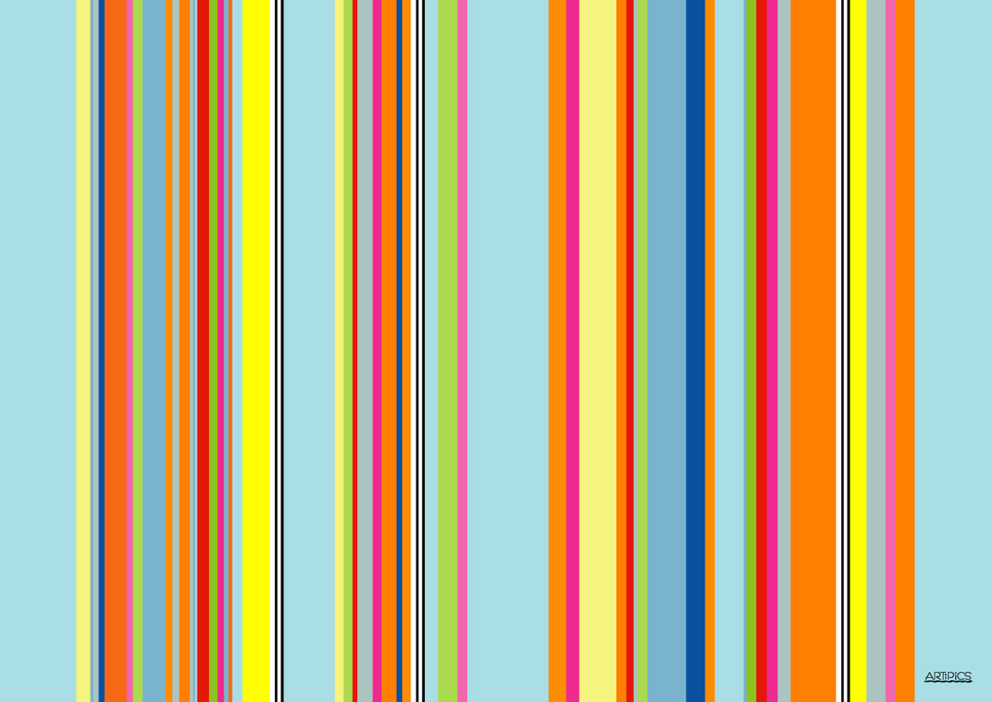 Stripes Hellblau Bunt Artipics